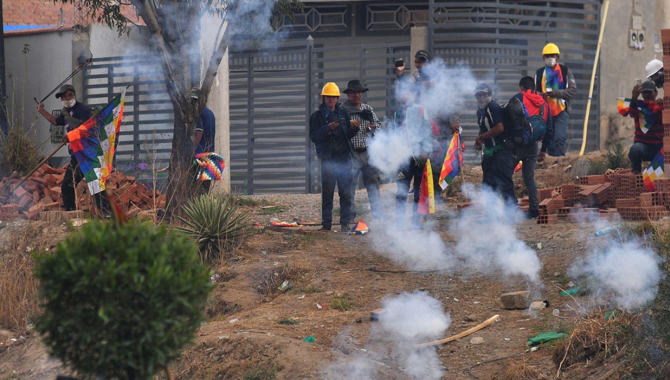 W starciach w Boliwii zginęły kolejne cztery osoby (fot. PAP/EPA/JORGE ABREGO)