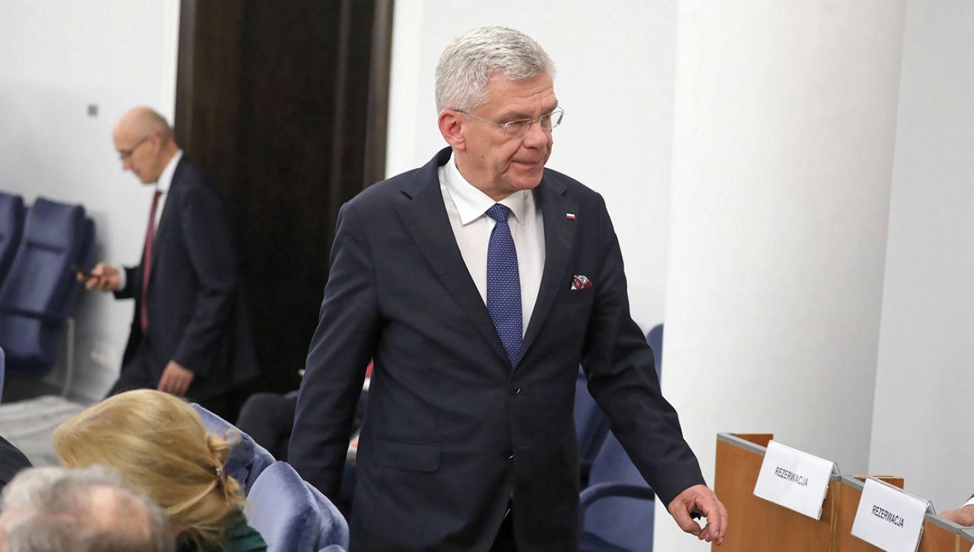 Były marszałek Senatu z PiS Stanisław Karczewski (fot. PAP/Tomasz Gzell)