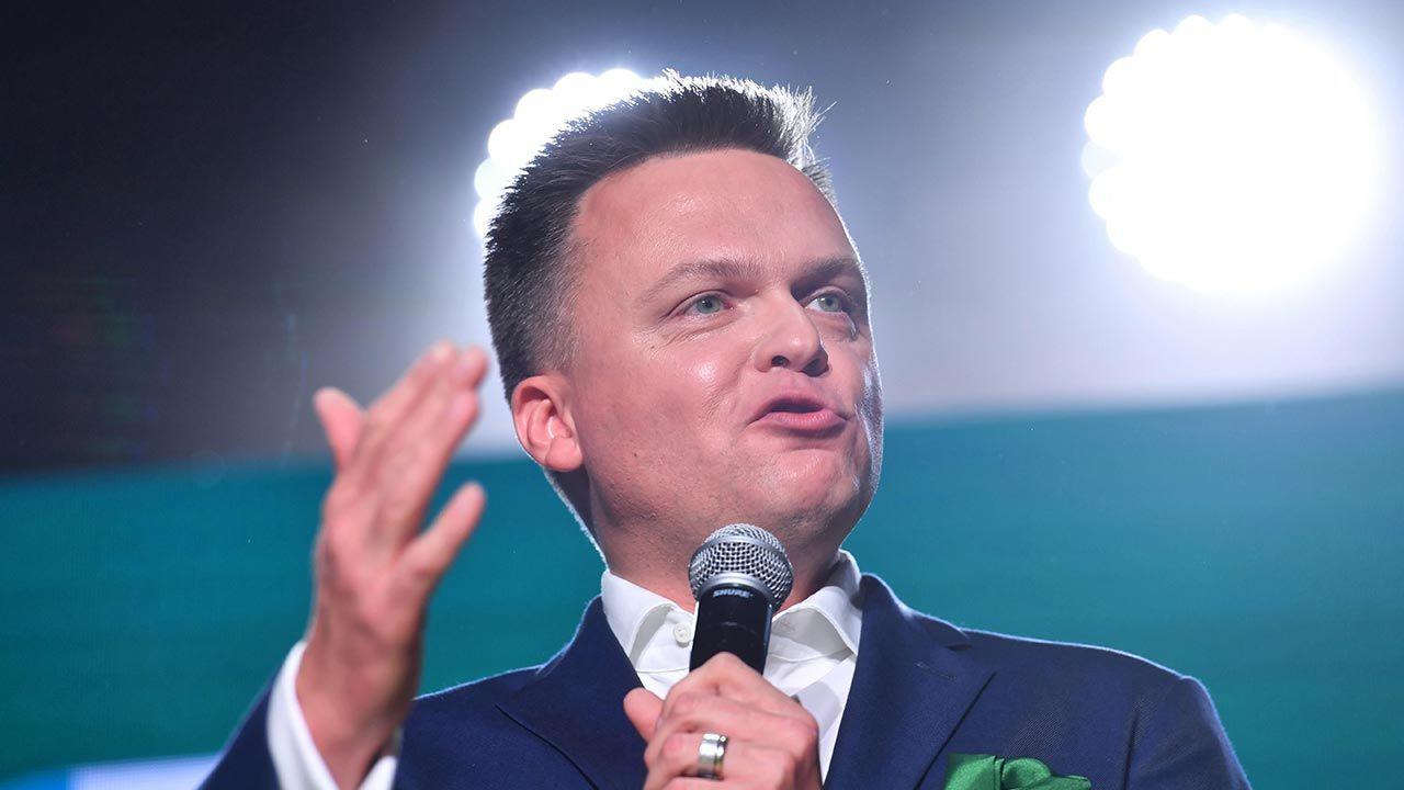 Jeszcze kilka tygodni temu partia Hołowni była wiceliderem sondaży (fot. PAP/Piotr Nowak)