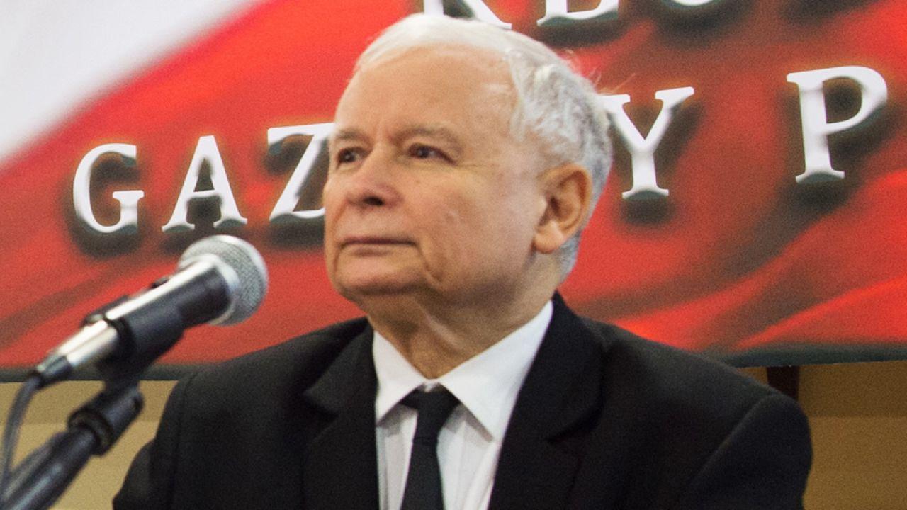 """Jarosław Kczyński podczas spotkania klubów """"Gazety Polskiej"""" w Spale (fot.arch.PAP/Grzegorz Michałowski )"""