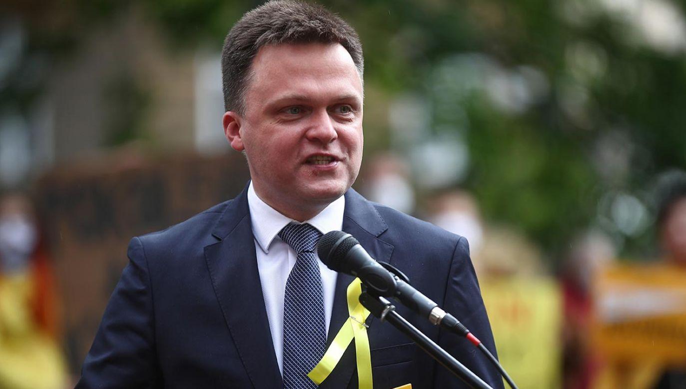 Szymon Hołownia (fot. PAP/Łukasz Gągulski)