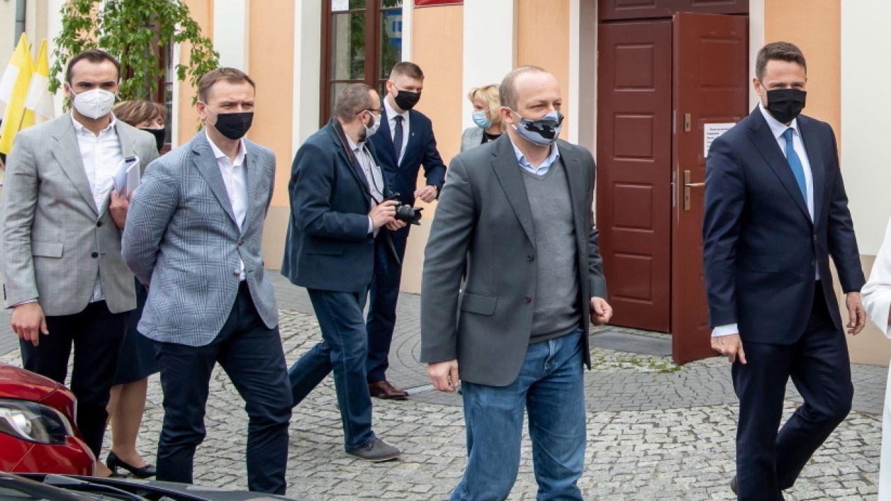 Sławomir Nitras, Paweł Olszewski i Rafał Trzaskowski (fot. PAP/Tytus Żmijewski)