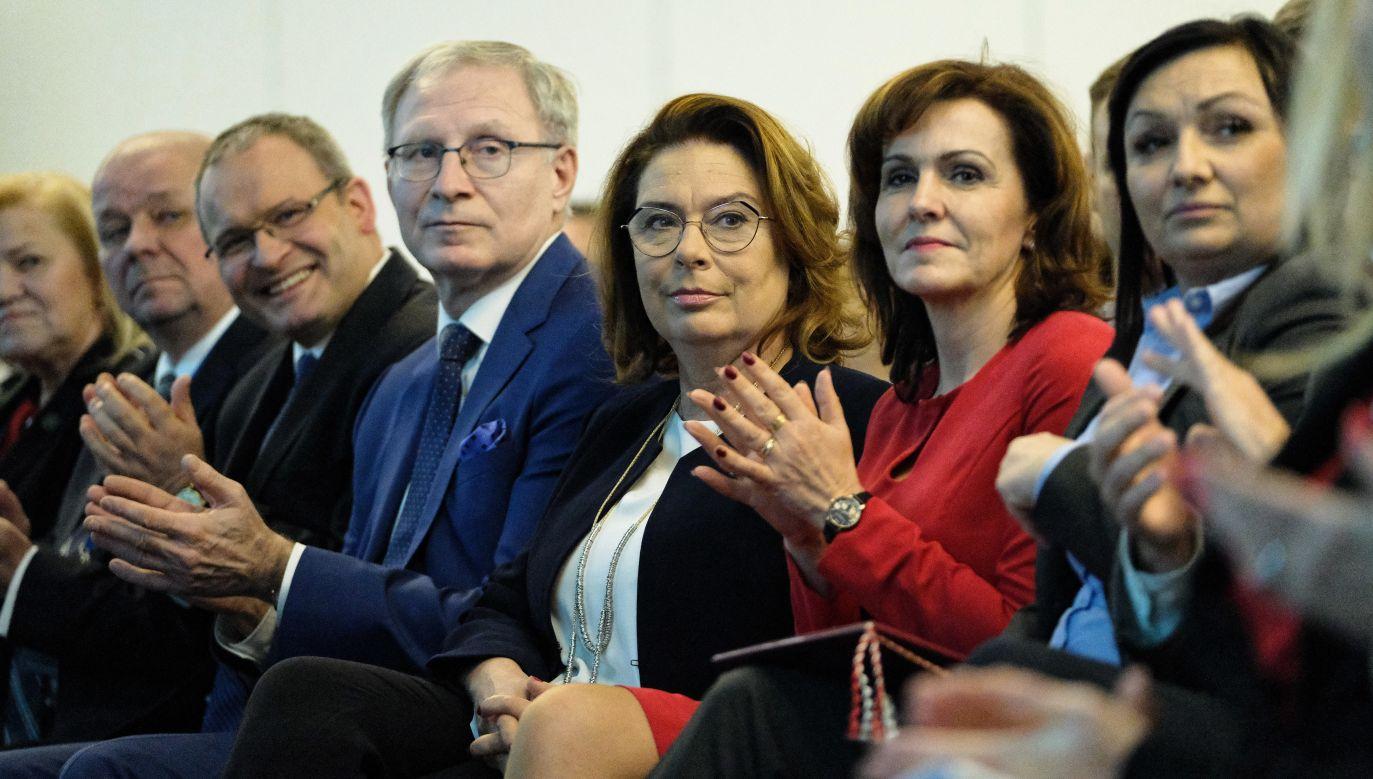 Kandydatka PO na prezydenta Małgorzata Kidawa-Błońska ostrzegała przed wyprowadzeniem Polski z Europy. (fot. PAP/Mateusz Marek)