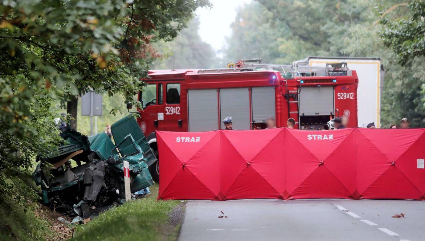 Na miejscu zginęły trzy osoby (fot. PAP/Roman Zawistowski)