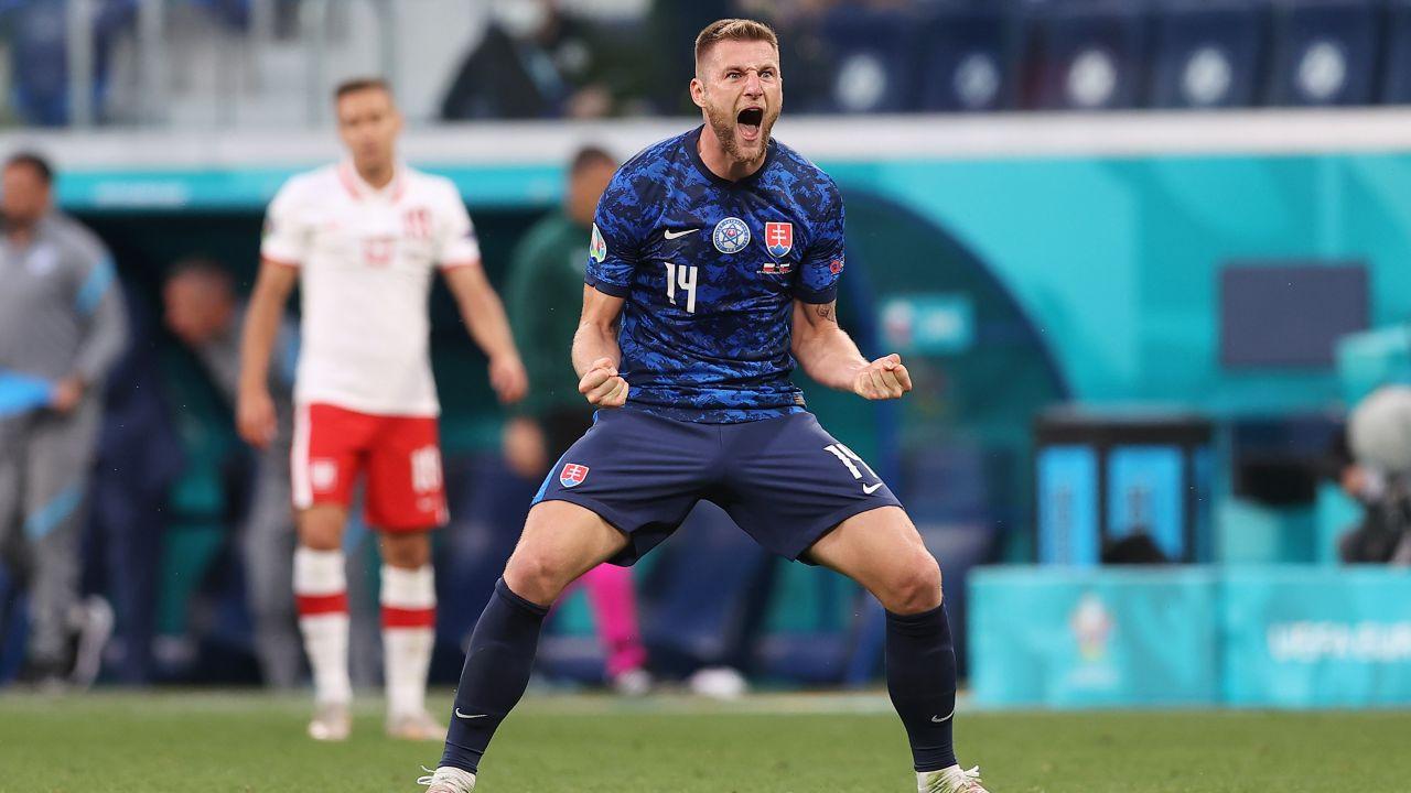 Milan Skriniar poprowadził Słowaków do zwycięstwa (fot. Getty Images)