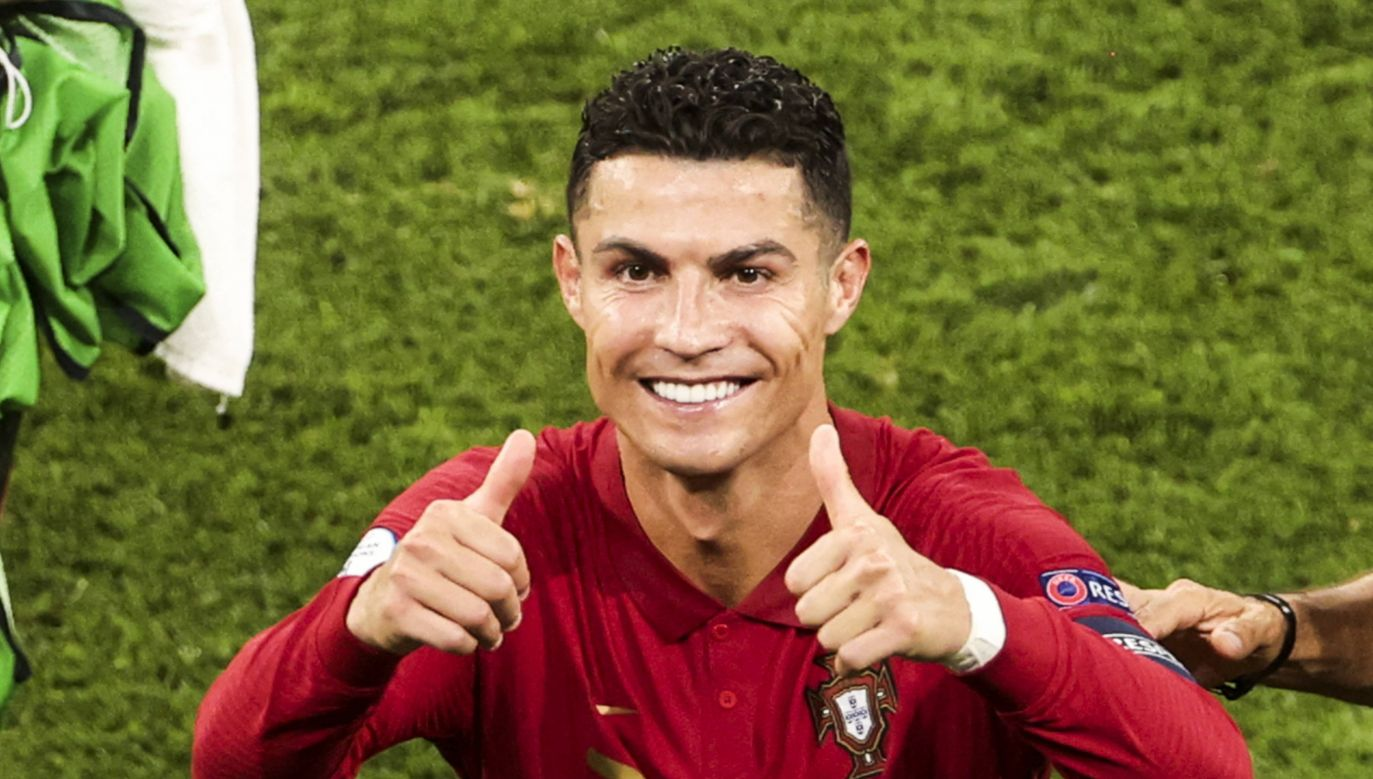 Cristiano Ronaldo strzeliłaż pięć goli w czterech meczach (fot. PAP/Abaca)