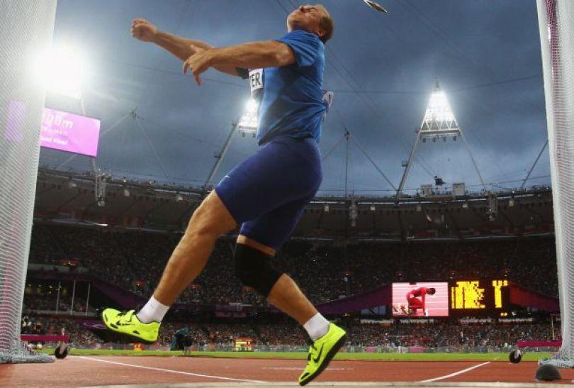 Gerd Kanter z Estonii zdobył brązowy medal w finale rzutu dyskiem (fot. Getty Images)