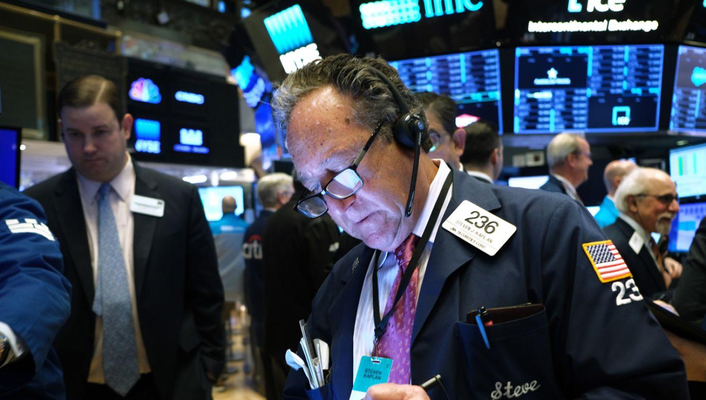Główne indeksy na nowojorskich giełdach ustanowiły w czwartek nowe historyczne rekordy(fot. Spencer Platt/Getty Images)