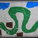 Rysunek Klaudii Jackowskiej, 6 lat