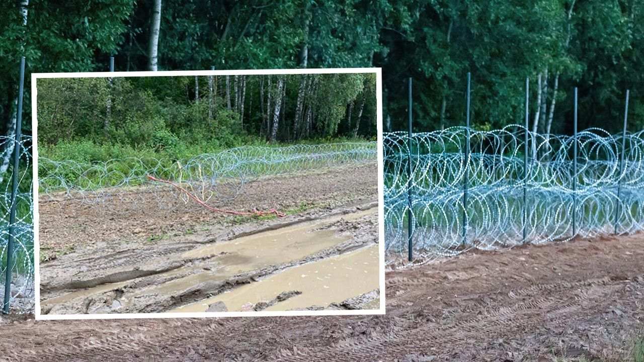 Zniszczenia oszacowano na kilkaset złotych (fot. PAP/Marcin Onufryjuk; Twitter/Straż Graniczna)