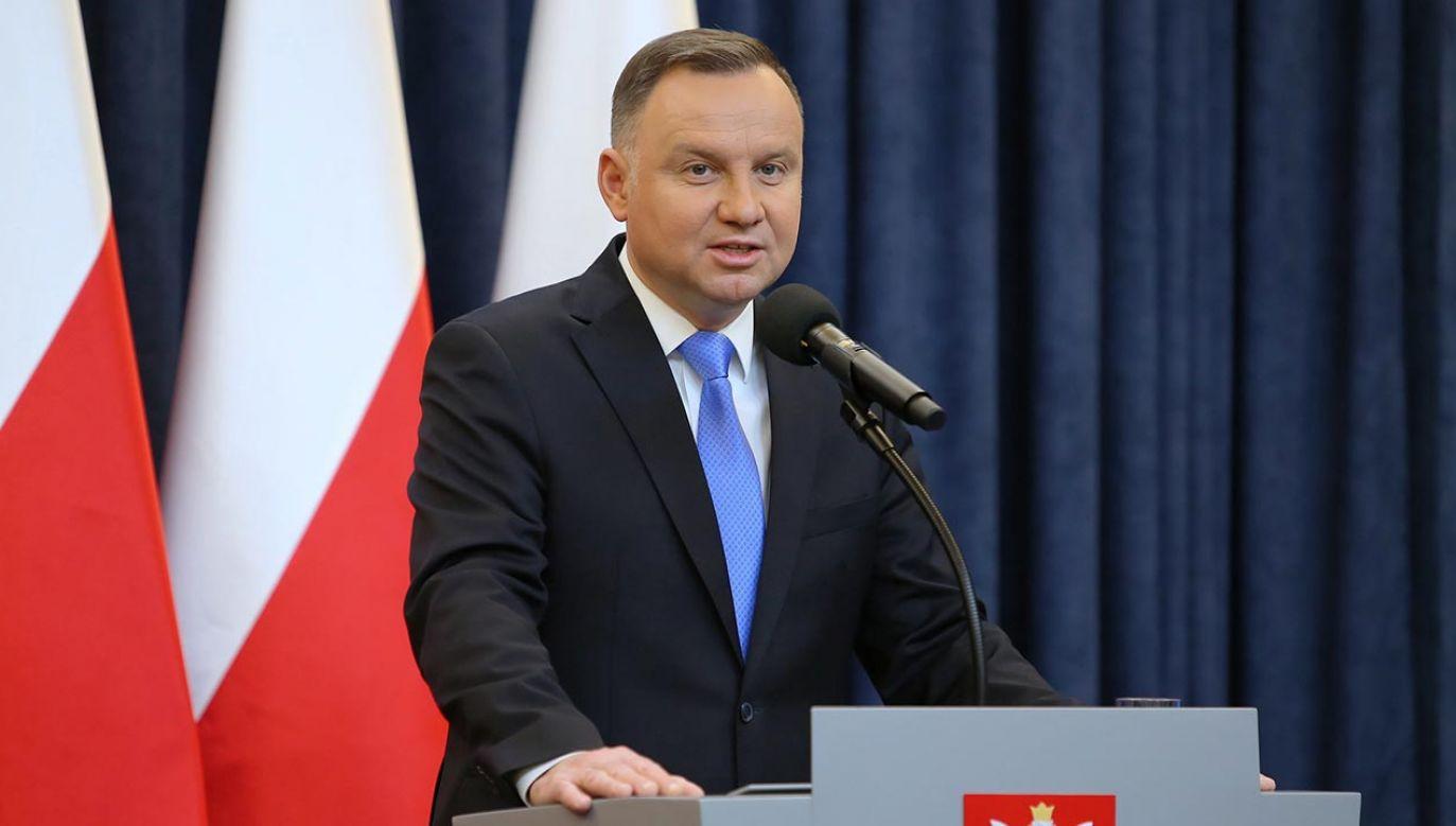 Prezydent Andrzej Duda (fot. PAP/Eliza Radzikowska-Białobrzewska)