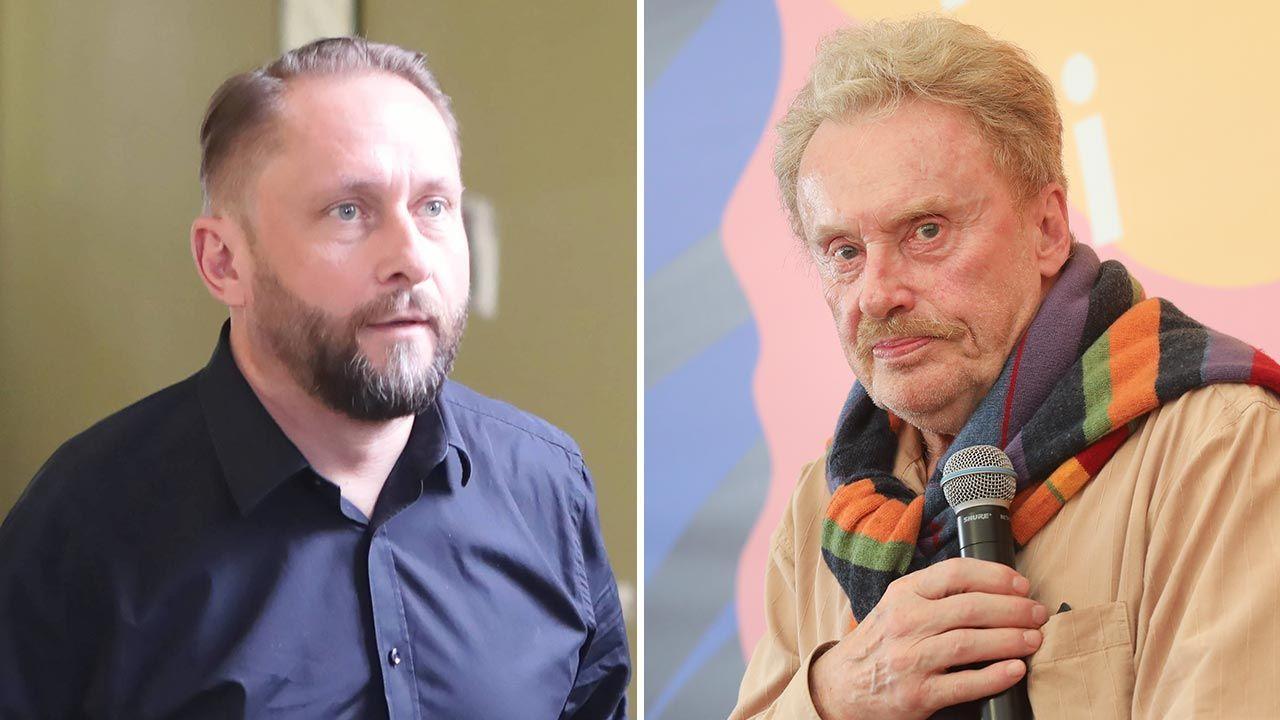 Kamil Durczok i Daniel Olbrychski (fot.  PAP/Roman Zawistowski; Forum/Jacek Szydlowski)