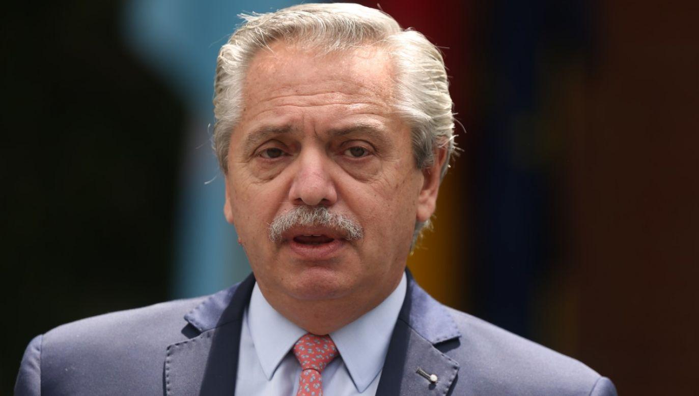 Prezydent Argentyny Alberto Fernandez będzie musiał dokonać rekonstrukcji rządu (fot. C. de Luca. POOL via Getty Images)