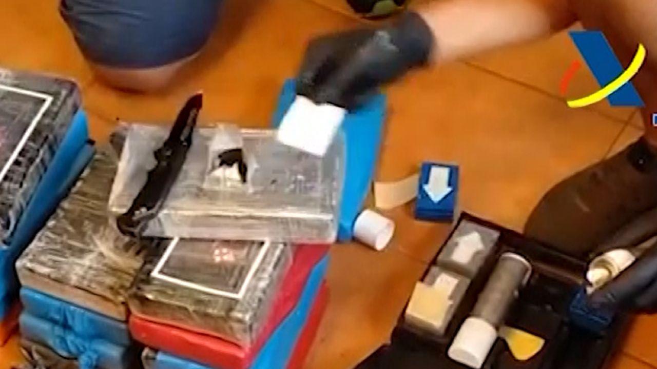 Kokaina przejęta przez hiszpańskie służby (fot. policia.es)